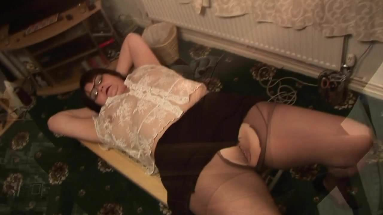 Mature Bbw In Short Skirt Rips Her Black Pantyhose Porn 9A-9895