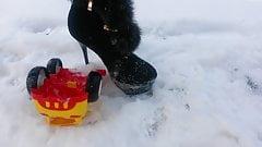 Winter crush: Lady L crush yellow toy car.'s Thumb