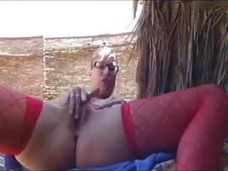 Nude Beach Big Boob Pierced Brunette Pt