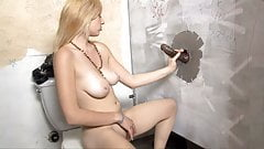Rylie Richman Tries Huge Black Dick - Gloryhole's Thumb