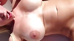 Slut Blonde Wife gets hard treatment on vacation