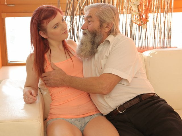 Free download & watch daddy k old pervert thrusts his fingers into snatch of          porn movies
