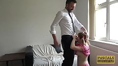 Hardfucked little subslut Cherry English hammered by master