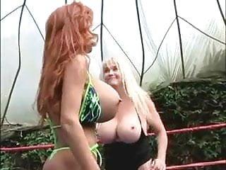 Mine the boob naked wreslting
