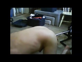 First time with fucking machine quickie 2