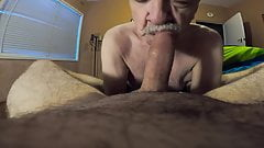 Daddy sucks cock with happy ending