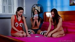 Zoey Foxx, Mia Hurley and Aidra Fox Strip Poker