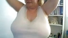 BBW Mature Teasing With Her Tits
