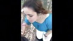 Young Girlfriend Sucks In The Woods