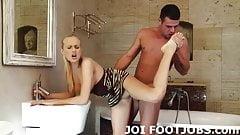 Slide your hard cock between my feet JOI