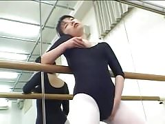 japanese ballerina clothed masturbation