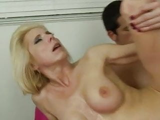 blonde milf enjoys her lover's cock
