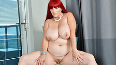 Redhead BBW milf Roxee Robinson does a slow striptease
