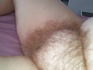 fingering her soft hairy pussy before i fuck it