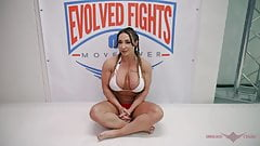 Powerful Brandi Mae takes on novice wrestler Marcello 's Thumb