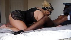 Chubby amateur tranny used by two BBC part two