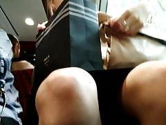 Sexy Blonde Upskirt Legs Voyeur Spy
