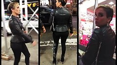 Candid Leather (Leather jacket MILF)