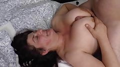Granny with big tits has fucked by big cock guy