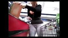 Candid Boobs: Slim Busty Hispanic Women (Black Tops) 1