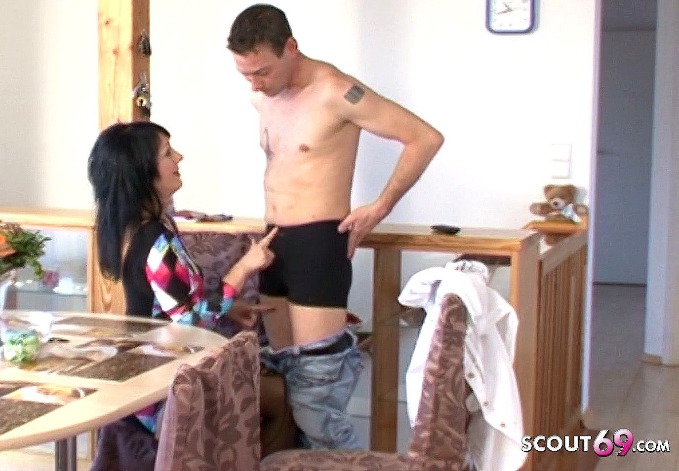 German Mom Seduce to Fuck for Cash by the younger Landlord