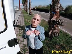 Public fucking with big titted teen Rossella Visconti and tr