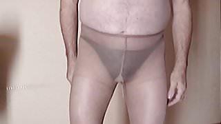 pantyhose and pantie wet wet