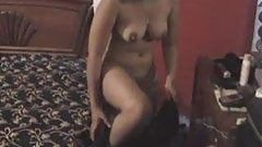 Nice Randi masturbates in hotel room