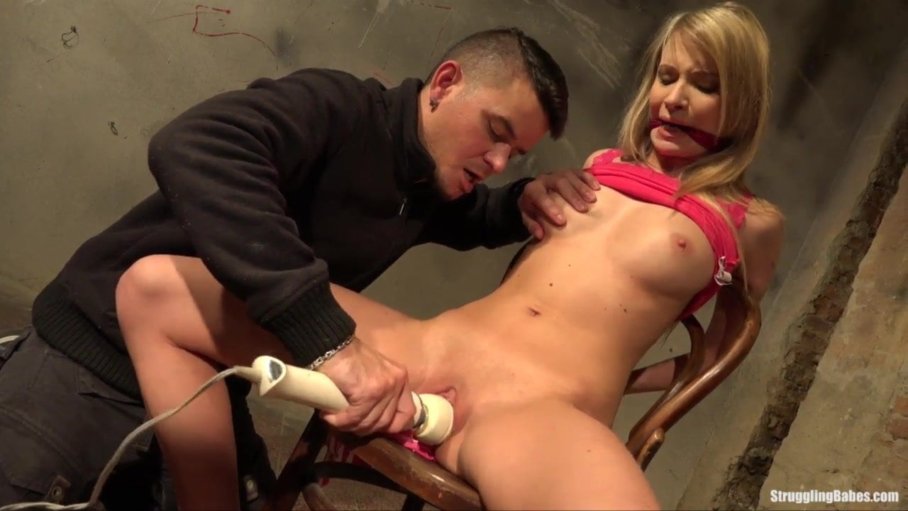 Angel Piaff Chair-Tied Gagged Stripped Naked Vibed Porn 50 Ru-7808