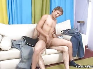 Raunchy guy gets ass fucked from behind