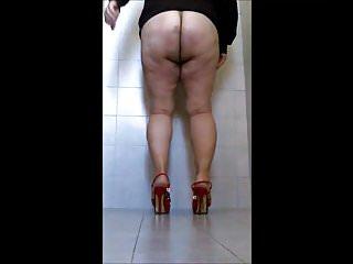 Antonella Corsi Soft Spanking in public Bathroom