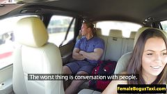 European cabbie sucking backseat passenger