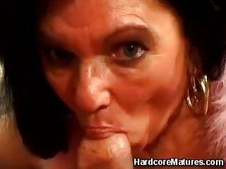 Teasing tittyfuck mature action