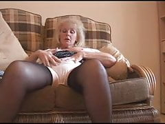 Mature Susan talks and strips part 2 of 4