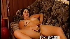 holly masturbating on couch