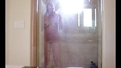 Hot woman in shower