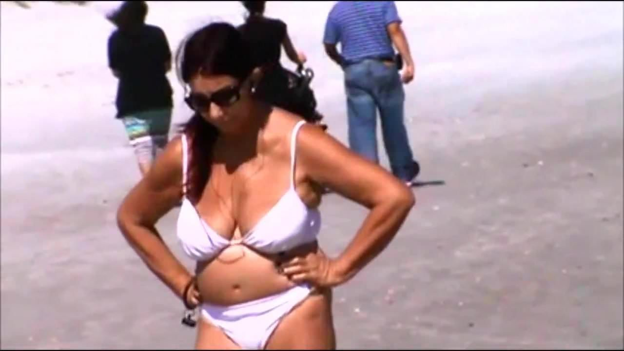 Spy beach mature huge nipples see through