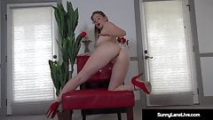 All Natural Sunny Lane Sucks Her Pussy Juice Off Her Fingers