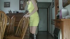 utfit of the day yellow mini dress and boot's Thumb