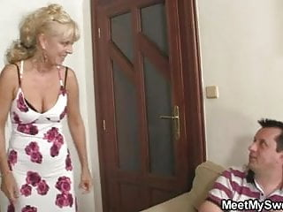 He leaves and she fucks his fam