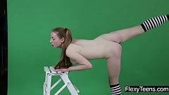 Anna Mostik shows gymnastics
