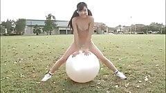 Bikini body workout with ball