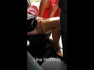 Lina HotWife Pipe sur le bord de route