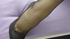 Stilettos black before sex