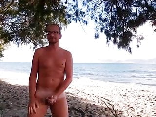 German male nude at the beach