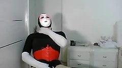 rubber doll unmasking wank 2