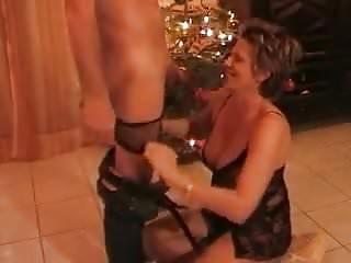 Stepmom gives stepson a bj for Xmas