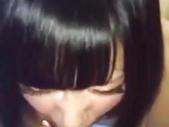 Exotic Japanese teen sucking
