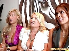Bigtitted cfnm milfs dominating with blowjobs