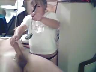 Waxed man gets a handjob
